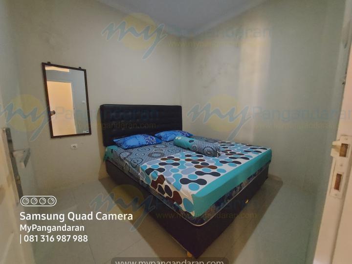 Tampilan Kamar Tidur Pondok Alin 2 Pangandaran<br /> DI lengkapi dengan AC, dan Bed ukuran 180x200